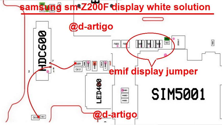 Samsung Z2 Z200F Cell Phone Screen Repair Light Problem Solution Jumper Ways