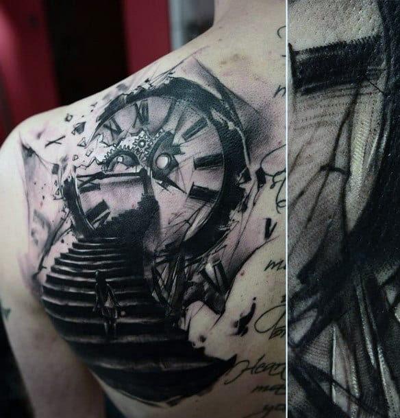 80 Clock Tattoo Designs For Men Timeless Ink Ideas