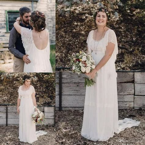 2017 Ivory Bohemian Wedding Dresses Plus Size Maternity
