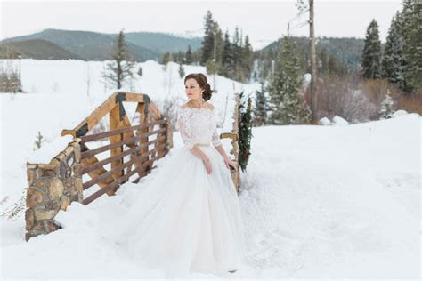 A Winter Wedding in the Rocky Mountains   Luxe Mountain
