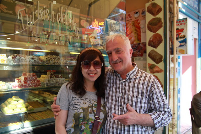 Posing with Baklava Shop Owner
