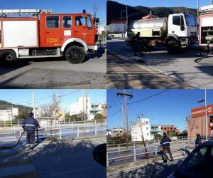 Ηγουμενίτσα: Καθαρισμός και απολύμανση στην 49 Μαρτύρων