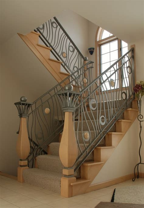 modern homes iron stairs railing designs home decorating