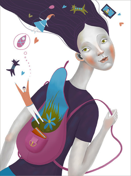 A world in the backpack: a book / Un mundo en la mochila: un libro (ilustración de Julia Valeeva)