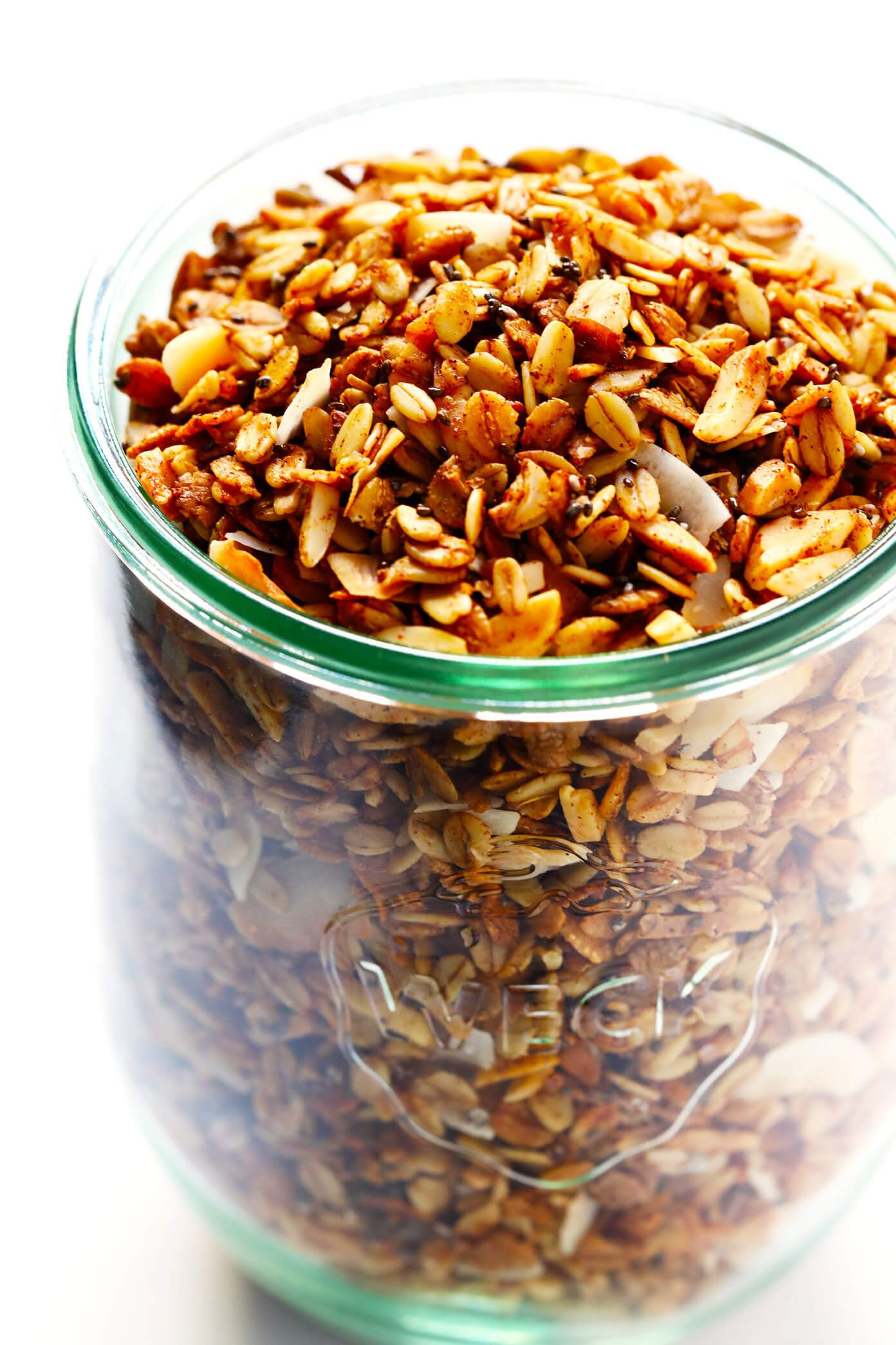 The BEST Healthy Granola!   Gimme Some Oven