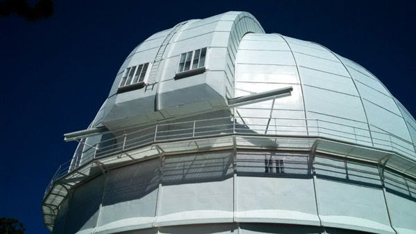 The dome housing Mount Wilson Observatory's historic 100-inch Hooker Telescope...on March 24, 2016.