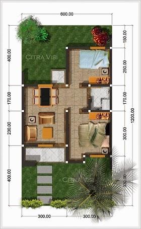 Sketsa Rumah 8 X 10