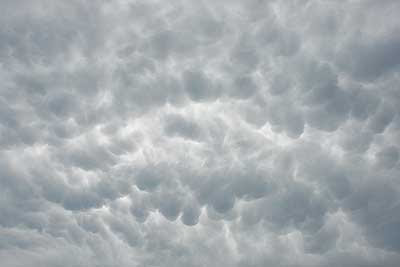Cumulus mammulus over the course