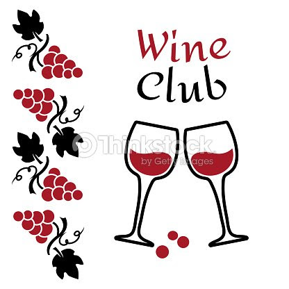 Grapes And Wine Glasses Wine Logo Design Red And Black Brand For