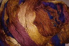 dyed handspun silk