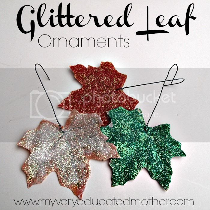 #Glittered Leaf #Ornaments via @mvemother #crafts