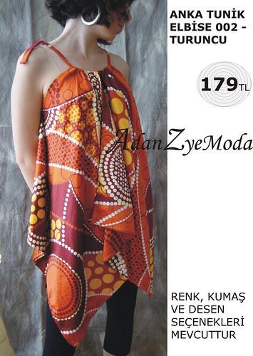 Anka Tunik Elbise 002 orange