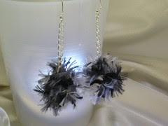 B&W Boa Earrings