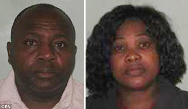 """BEST QUALITY AVAILABLE Undated handout photo issued by National Crime Agency of Bernard Armah and Lawrencia Emenyonu who have been jailed at the Old Bailey, Lonon for their part in a scam by fraudster Frank Onyeachonam after he conned vulnerable pensioners out of their life savings with a bogus lottery scam. PRESS ASSOCIATION Photo. Issue date: Thursday July 3, 2014. For seven years, Onyeachonam, nicknamed """"Fizzy"""" because of his love of champagne ran the UK operation of a global scam which was orchestrated from his native Nigeria and involved hundreds of perpetrators in several countries, detectives suspect. See PA story COURTS Lottery. Photo credit should read: National Crime Agency /PA Wire NOTE TO EDITORS: This handout photo may only be used in for editorial reporting purposes for the contemporaneous illustration of events, things or the people in the image or facts mentioned in the caption. Reuse of the picture may require further permission from the copyright holder."""