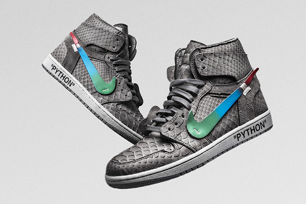 """7be2cf411501 The Shoe Surgeon s """"Menta"""" Air Jordan 1 Is OFF-WHITE x Nike Gone Luxe"""