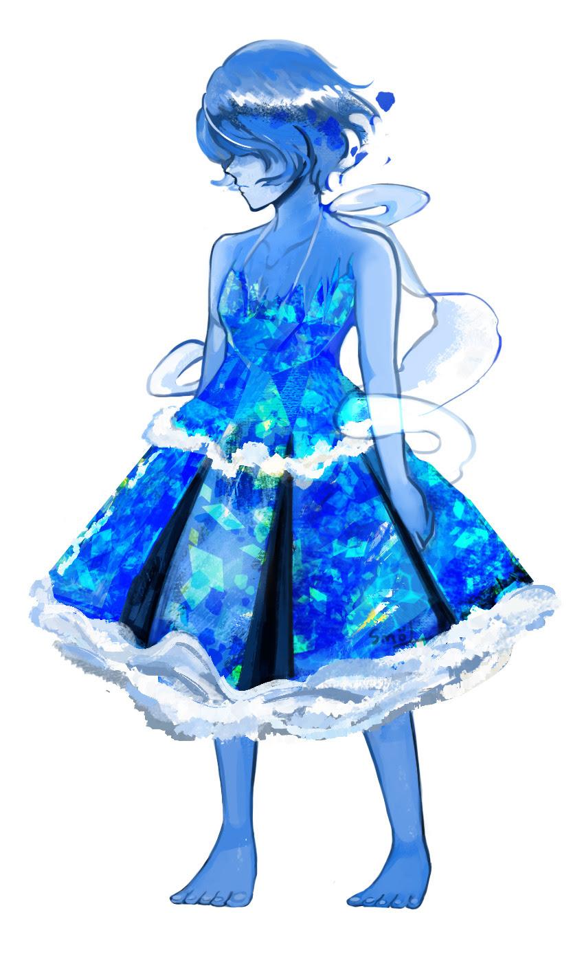 @peachdalooza happy merry whatever. Lapis lazuli gem dress!