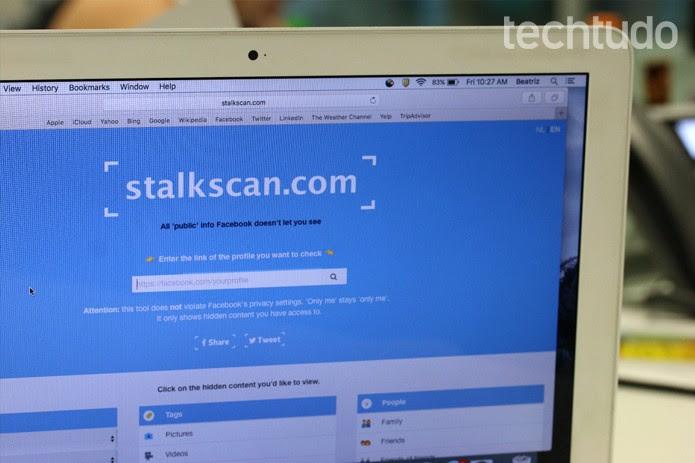 Stalkscan (Foto: Carolina Ochsendorf/TechTudo         )
