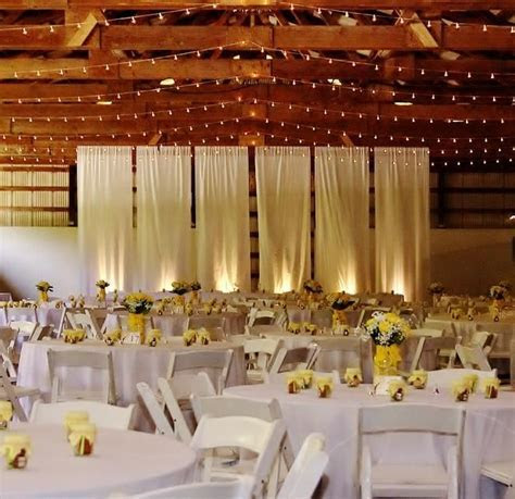 Drape partition in the @Sunset Ranch Hawaii Barn with up