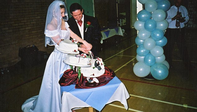 Newlyweds: Julia and Craig Hubbard pictured at their wedding, not long before they consummated their marriage