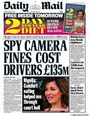 Daily Mail (UK) Front Page for 3 January 2014 | Paperboy Online ...