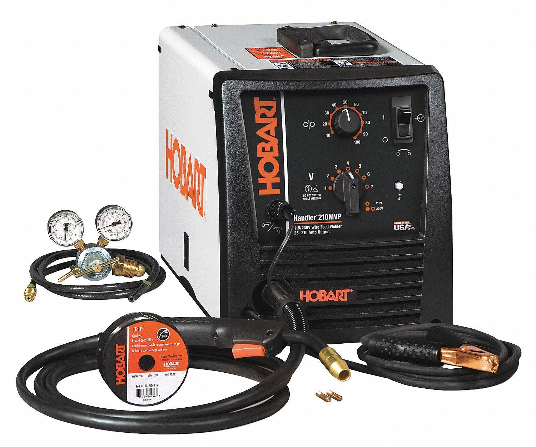 HOBART Mig Welder, Handler Series, Input Voltage: 120/240V ...