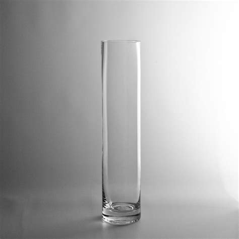"12x2.5"" Glass Cylinder Vase 4/60. . .pair with 16"" and 20"