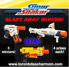 Blast Away Winter with Nerf!
