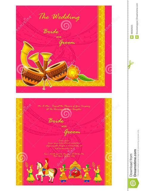 Indian Wedding Invitation Card Stock Vector   Illustration