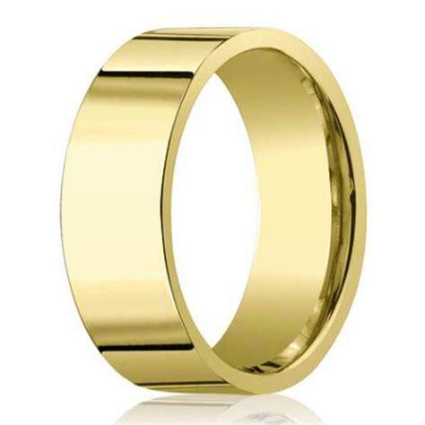 8mm 14k Yellow Gold Men's Designer Wedding Band