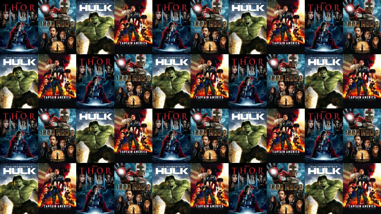 Thor Iron Man 2 The Hulk Captain America Wallpaper Tiled Desktop