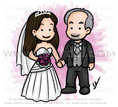 Caricatura noivos, casal fofinho, meigo, caricatura para casamento by ila fox