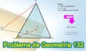 Problema de Geometría 132. Triangulo, Ortocentro, Angulo de 60 grados, Punto medio.