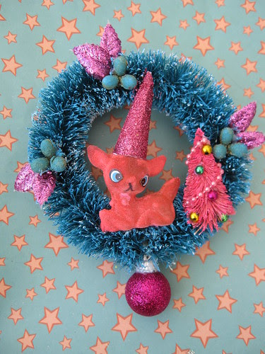 Pink Deer Ornament! 4