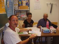 Luglio 2008 ass diabetici di sremo, i titolari con il ns presidente.