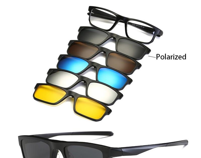 79e53697dbe8a8 Kopen Goedkoop Mode Mannen Vrouwen Zonnebril Met Vijf Clip Gepolariseerde  Lens TR90 Magnetische Bril Brillen Brilmontuur Prijs ~ milakunissexscenes