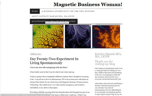 Magnetic Business Woman