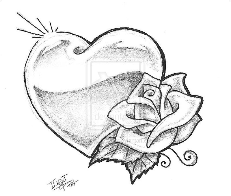 Free Roses And Heart Drawing Download Free Clip Art Free Clip Art