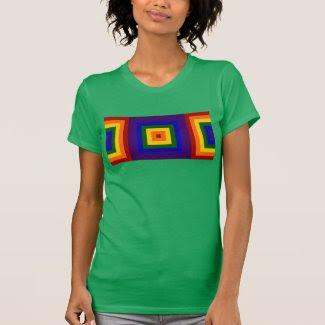 Geometric Rainbow Squares T-shirt
