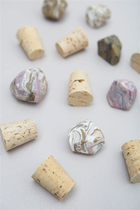 You HAVE To See These DIY Marbled Gemstone Wine Stoppers!