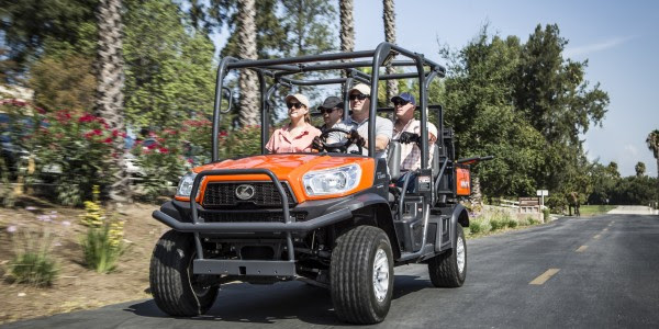 Kubota introduces the RTV-X1140, featuring the innovative K-Vertible cargo conversion system, which transforms the vehicle from two passengers and a large cargo bed to four passengers and a cargo bed.