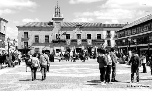 La mañana de Jueves Santo en la Plaza de Almagro