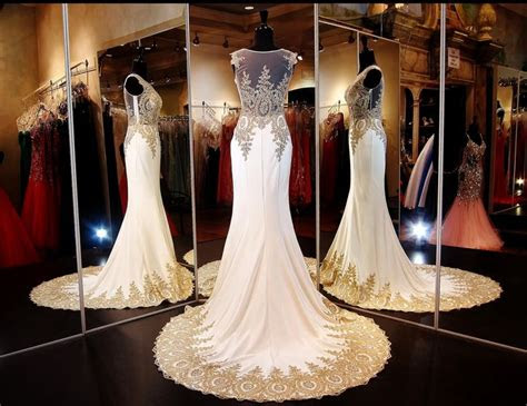 ivorygold formfittng mermaid pageant  prom gown