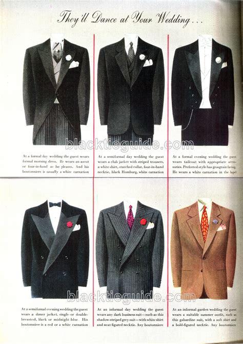 black tie guide vintage wedding etiquette