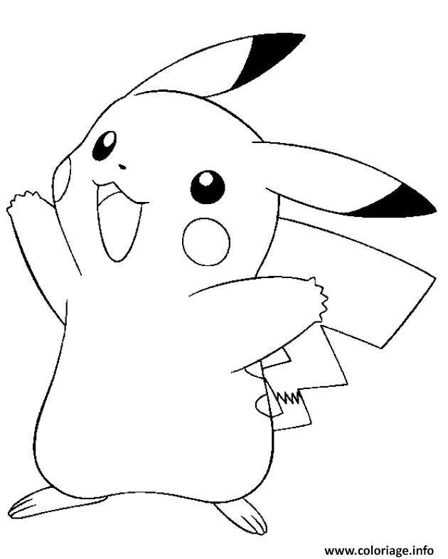 Coloriage Pikachu Mignon Jecoloriecom
