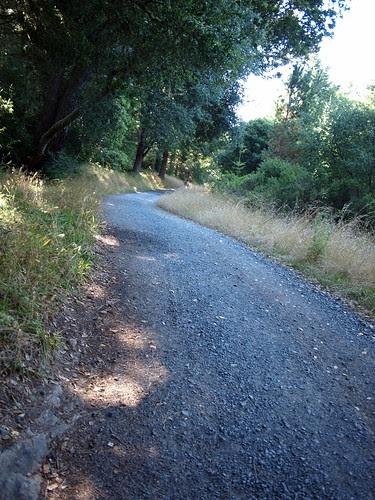 Beginning section of gravel on Sky Trail