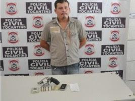 Antônio Carvalho da Costa, de 32 anos, foi preso após assaltar agência dos Correios de Augustinópolis (Foto: Divulgação/SSP TO)