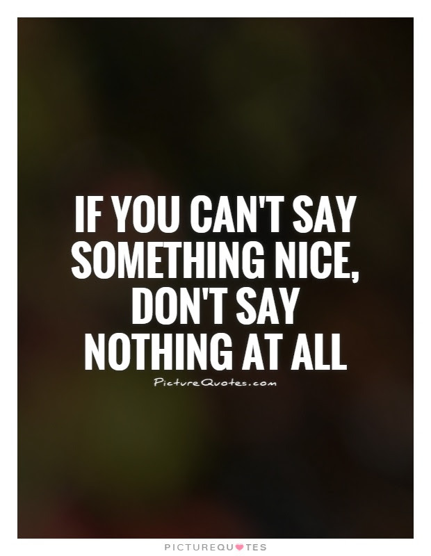 If You Cant Say Something Nice Dont Say Nothing At All Picture