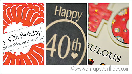 Happy 40th Birthday Cards - Free Printable Cards | Download and Print