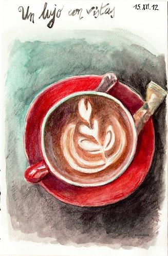 el café dibujado