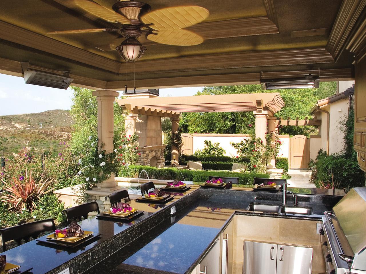 Outdoor Kitchen Countertops Options | HGTV